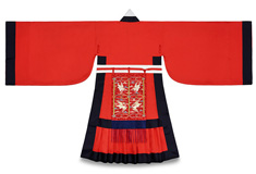 The Costume, the Pattern of Joseon Dynasty: Officials' Ceremonial Attire, Red Jobok